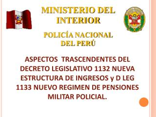 MINISTERIO DEL INTERIOR POLICÍA NACIONAL DEL PERÚ