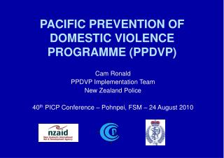 PACIFIC PREVENTION OF DOMESTIC VIOLENCE PROGRAMME (PPDVP)