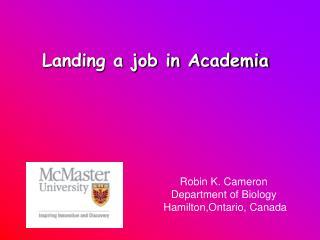 Landing a job in Academia