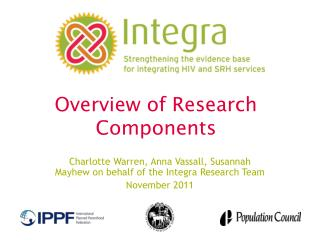 Overview of Research  Components