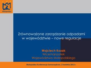 Zrównoważone zarządzanie odpadami w województwie – nowe regulacje