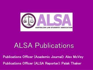 ALSA Publications