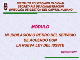 INSTITUTO POLIT CNICO NACIONAL SECRETAR A DE ADMINISTRACI N DIRECCI N DE GESTI N DEL CAPITAL HUMANO