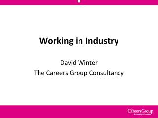 Working in Industry