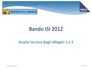 Bando ISI 2012