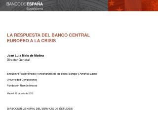 La CRISIS ECON�MICA Y FINANCIERA
