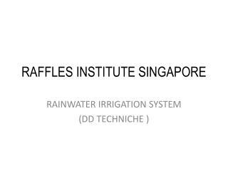 RAFFLES INSTITUTE SINGAPORE