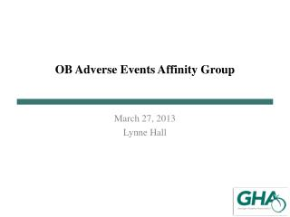 OB Adverse Events Affinity Group