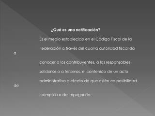�Qu� es una notificaci�n?