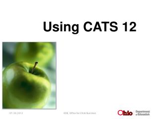 Using CATS 12