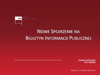 Nowe Spojrzenie na  Biuletyn Informacji Publicznej