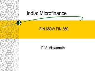 India:  Microfinance