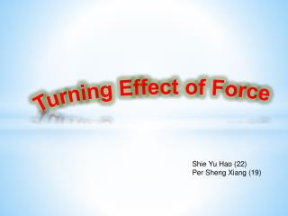 Turning Effect of Force
