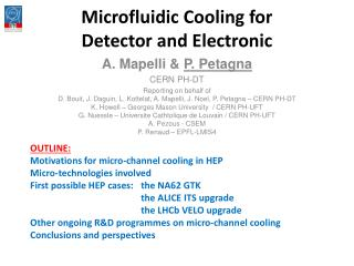 Microfluidic  Cooling for Detector and Electronic