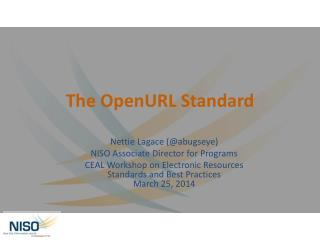 The  OpenURL  Standard