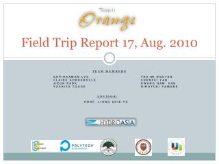 Field Trip Report 17,  Aug . 2010