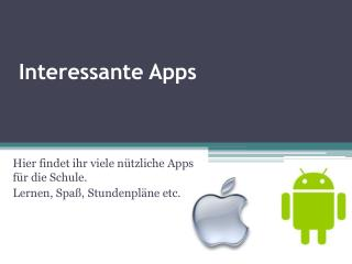 Interessante Apps