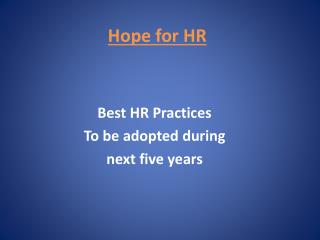 Hope for HR