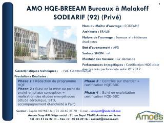 AMO HQE-BREEAM Bureaux � Malakoff SODEARIF (92) (Priv�)