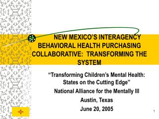 NEW MEXICO S INTERAGENCY BEHAVIORAL HEALTH PURCHASING COLLABORATIVE:  TRANSFORMING THE SYSTEM
