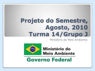 Projeto do Semestre,  Agosto , 2010 Turma 14/Grupo J
