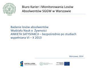 Biuro Karier i Monitorowania Losów Absolwentów SGGW w Warszawie