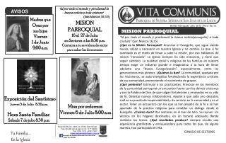 Boletín Parroquial  Julio  2012  Año 2  No.16
