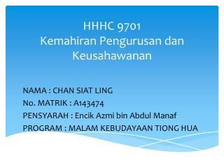 HHHC  9701 Kemahiran Pengurusan dan Keusahawanan