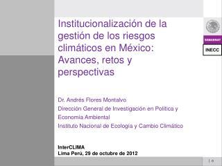 InterCLIMA Lima Perú, 29 de octubre de 2012