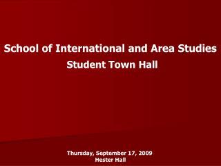 School of International and Area Studies
