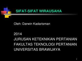 SIFAT-SIFAT WIRAUSAHA
