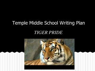 Temple Middle School Writing Plan