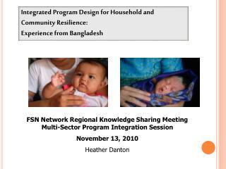 FSN Network Regional Knowledge Sharing Meeting Multi-Sector Program Integration Session