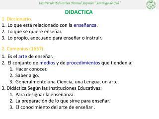 Instituci�n Educativa Normal Superior �Santiago de Cali�