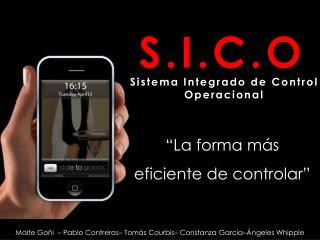 Sistema Integrado de  Control Operacional