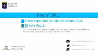 Forum OPD