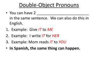 Double-Object Pronouns