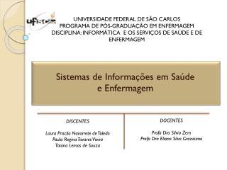 Sistemas de Informações em Saúde  e Enfermagem