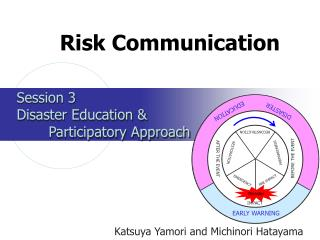 Session 3  Disaster Education    Participatory Approach