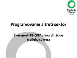 Programovanie a tretí sektor