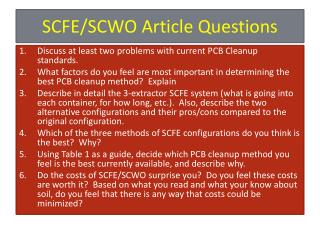 SCFE/SCWO Article Questions