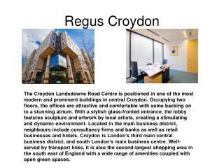 Regus Croydon