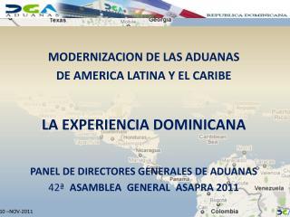 MODERNIZACION  DE LAS ADUANAS DE  AMERICA  LATINA Y EL CARIBE LA EXPERIENCIA DOMINICANA