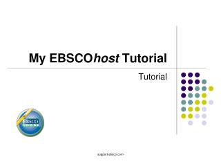 My EBSCOhost Tutorial