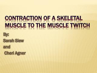 Contraction of a skeletal muscle to the muscle twitch
