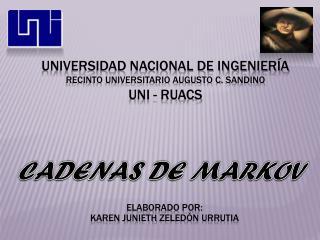 Universidad nacional de ingeniería recinto universitario augusto c.  sandino Uni  -  ruacs