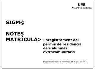 Gestió de Matrícula => Manteniments => Manteniment Dades Alumne
