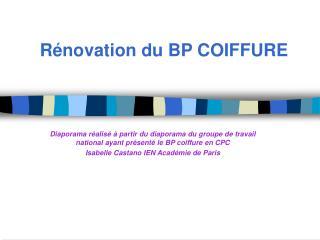 R novation du BP COIFFURE