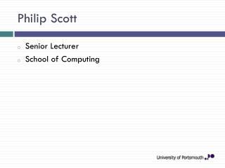 Philip Scott
