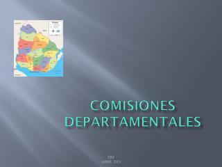 COMISIONES DEPARTAMENTALES
